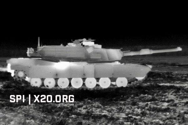white hot thermal optics on tank
