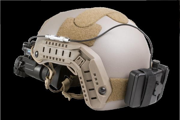 Head mount night vision binocular illumination military grade power pack