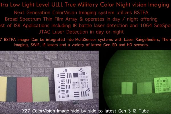 Color Night vision vs white phosphorus JTAC SWIR X27