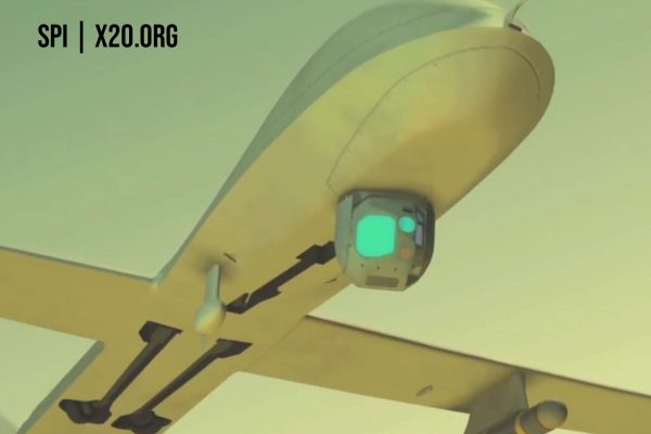 SPI drone gyro stabilized EO IR gimbal