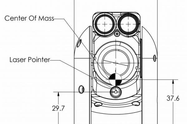 ultra light rugged long range EO IR gyro stabilized gimbal CAD