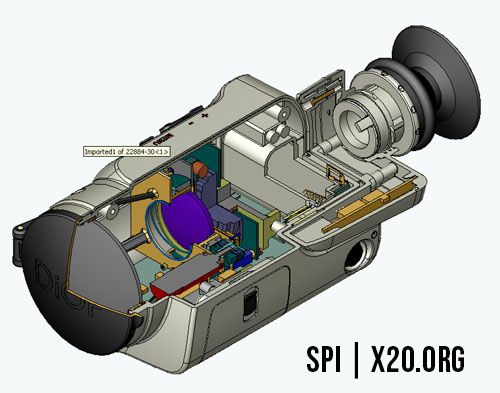 Cut away cad of night camera technology