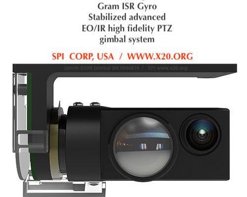 Gyro stabilized EO/IR PTZ gimbal system