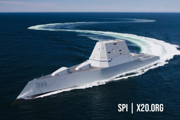 USS Zumwalt with SPI color night vision