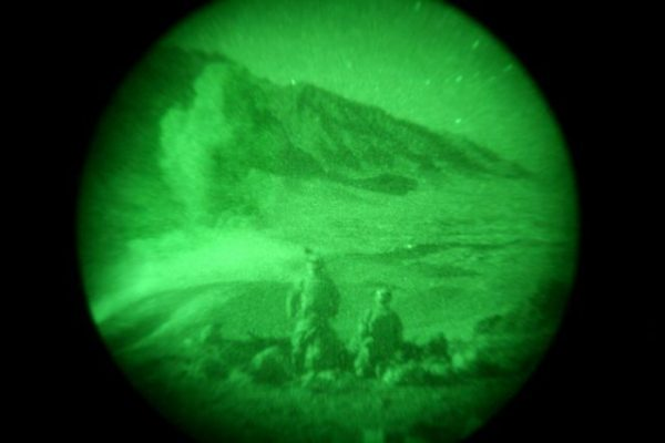 soldiers viewed through night vision