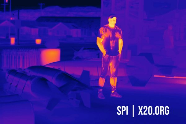 SPI Thermal imaging using color spectrum