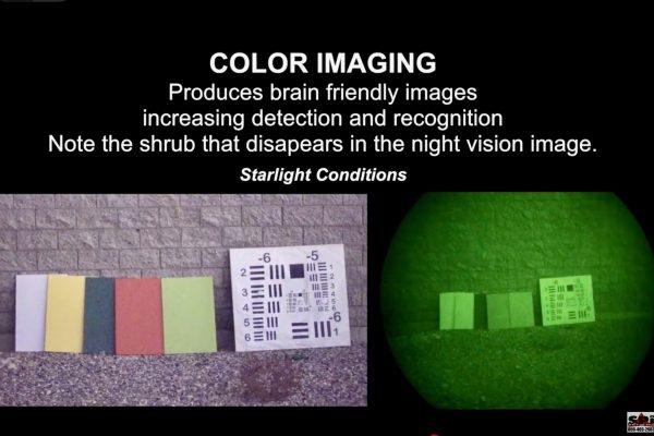 Full color night vision vs white phosphorus night vision comparison