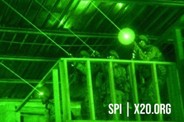 Military night vision laser sights white phosphorus