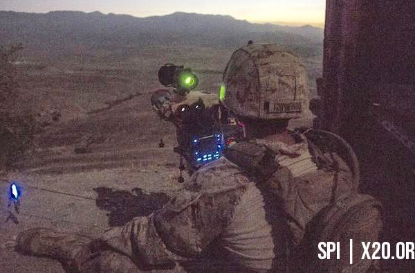 soldier night vision scope with range finder and laser pointer