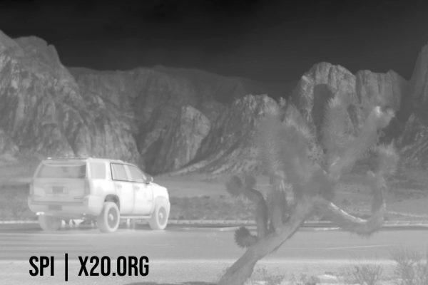 White hot thermal camera image SPI