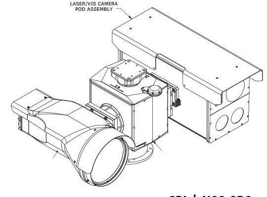 Laser range finder thermal camera hd ptz SPI