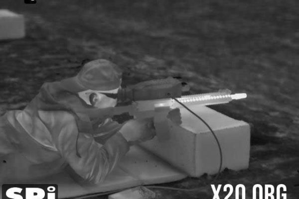 SPI white hot thermal imaging during live fire of weapon