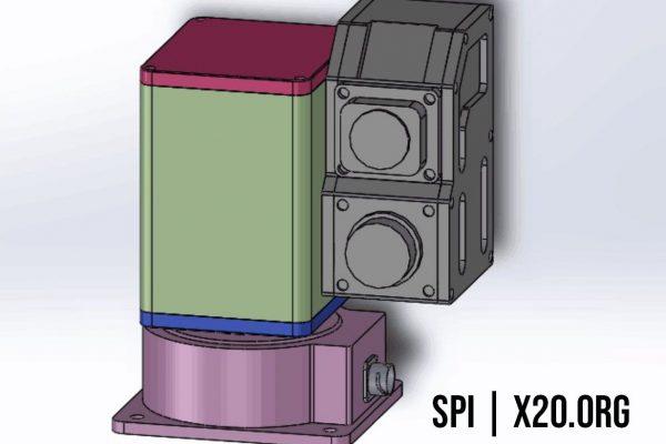 PTZ dual camera CAD drawings