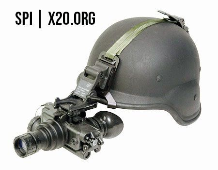 Helmet mounted Gen 3 white phosphorus night vision goggles spi