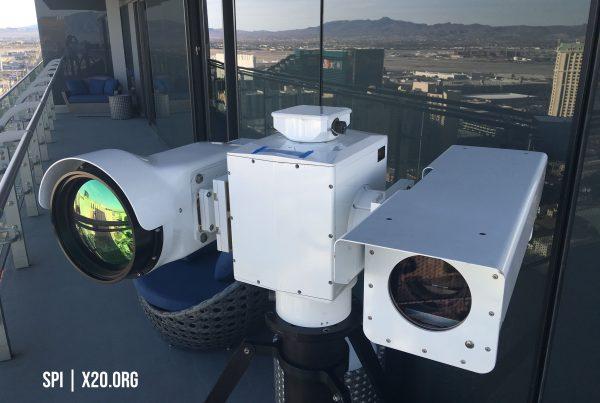 Long Range IP PTZ HD thermal and daytime camera Military optics