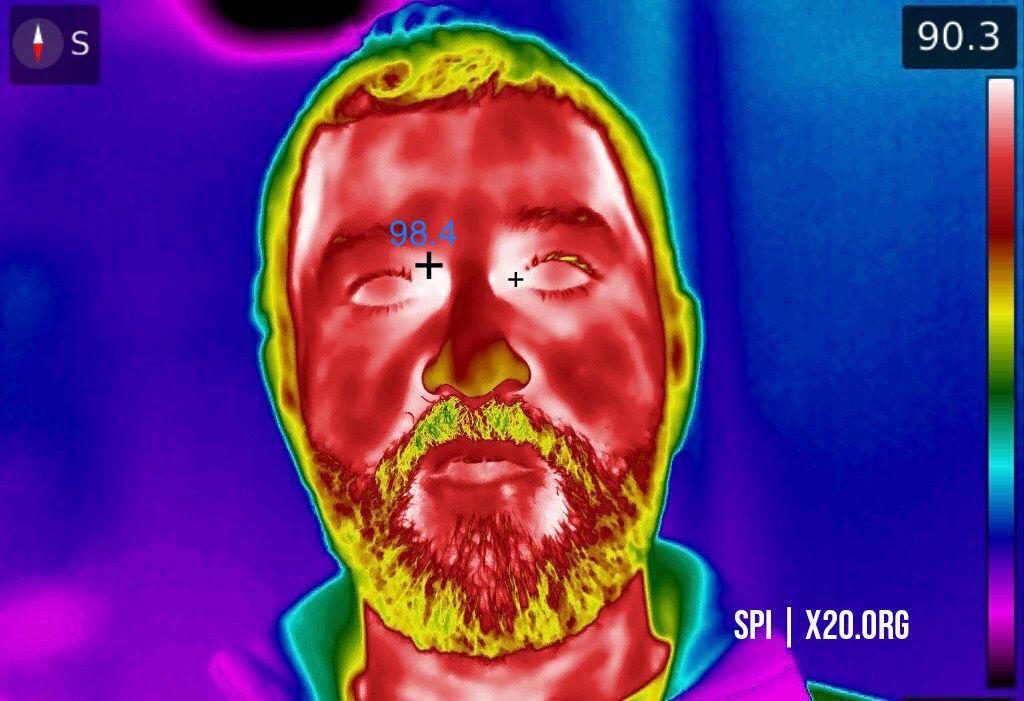 X26 thermal infrared flir image