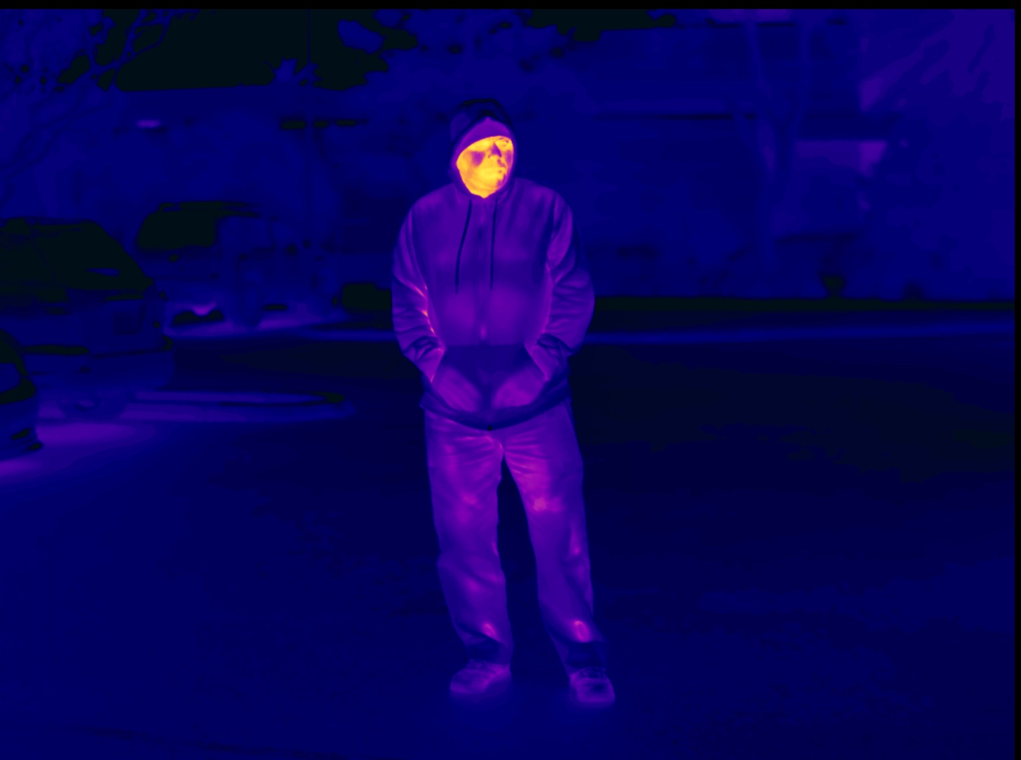 Long range thermal imaging Flir human detection